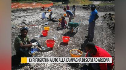 13 rifugiati ad Arcevia impegnati a supporto di scavi archeologici