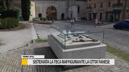 Sistemata la teca raffigurante la città fanese al Pincio – VIDEO