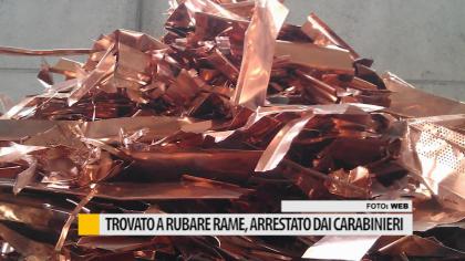 Trovato a rubare rame, arrestato dai Carabinieri a Colli al Metauro – VIDEO