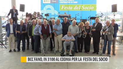 BCC Fano, in 3100 al CODMA per la festa del socio – VIDEO
