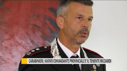 Carabinieri, nuovo comandante provinciale: è il tenente colonnello Ricciardi – VIDEO