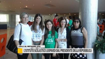 Istituto scolastico Leopardi dal presidente della repubblica – VIDEO