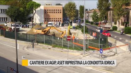 Cantiere ex Agip, Aset ripristina la condotta idrica  – VIDEO