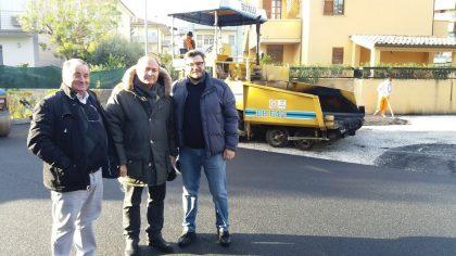 Fano 2, in fase di completamento l'intervento  di asfaltatura