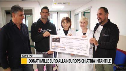 Donati mille euro alla neuropsichiatria infantile di Fano- VIDEO