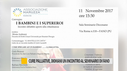 Cure palliative, domani un incontro al seminario di Fano – VIDEO