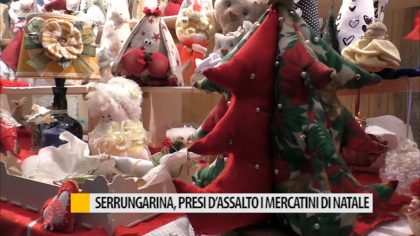 Serrungarina, presi d'assalto i mercatini di Natale – VIDEO