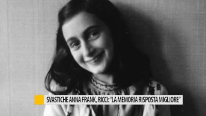 """Svastiche Anna Frank, Ricci: """"La memoria è la risposta migliore"""" – VIDEO"""