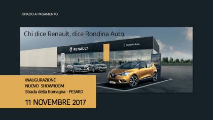 Rondina Auto – Inaugurazione nuovo showroom Renault (11 novembre 2017)