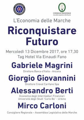 La situazione economica nelle Marche. Mercoledì un convegno a Fano