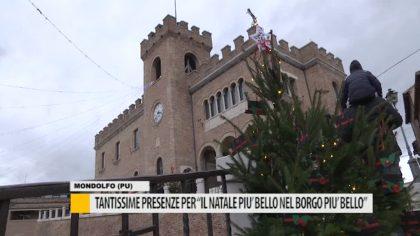 """Mondolfo, tante presenze per """"Il Natale più bello, nel borgo più bello"""" – VIDEO"""