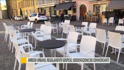 Arredo urbano, regolamento sospeso: soddisfazione dei commercianti – VIDEO