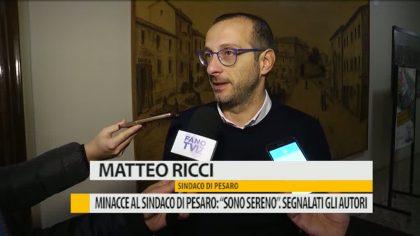 """Minacce al Sindaco di Pesaro Ricci: """"Sono sereno"""". Segnalati gli autori del gesto – VIDEO"""