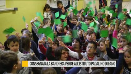 Consegnata la bandiera verde all'Istituto Padalino di Fano – VIDEO