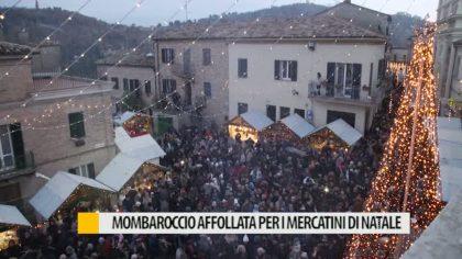 Mombaroccio affollata per i mercatini di Natale – VIDEO
