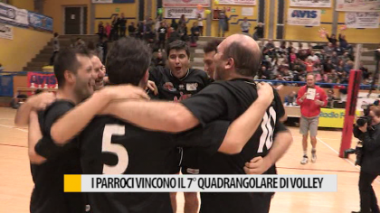 I parroci vincono il 7° quadrangolare di volley – VIDEO
