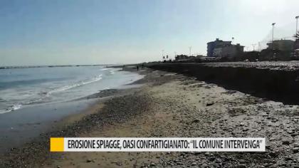 """Erosione spiagge, Oasi Confartigianato: """"Il comune intervenga"""" – VIDEO"""