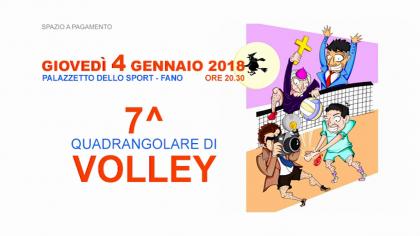 7° Quadrangolare di volley (4 gennaio 2018)