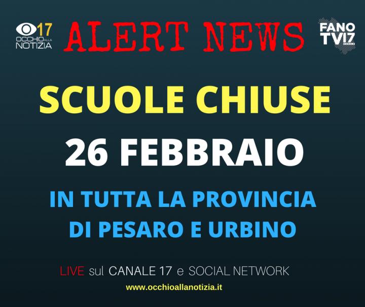 Maltempo: il bollettino transitabilità sulle strade della Provincia di Pesaro-Urbino