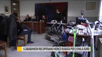 I Carabinieri di Pesaro recuperano merce per un valore di 25mila euro – VIDEO