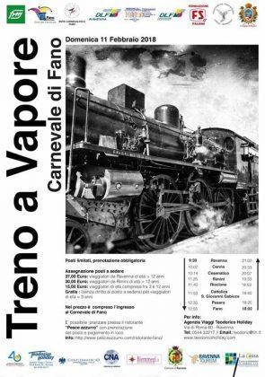 Da Pesaro al Carnevale di Fano con il treno a vapore