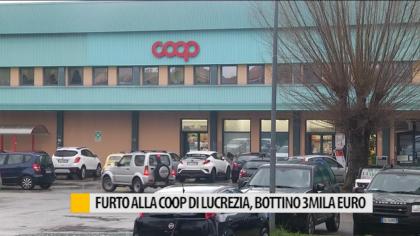 Furto alla Coop di Lucrezia,ladri entrano dalla porta principale – VIDEO