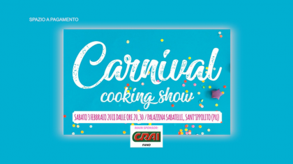 Carnival Cooking Show  (3 febbraio 2018)
