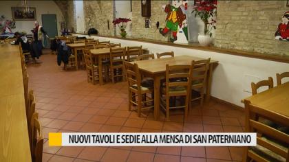 Nuovi tavoli e sedie alla mensa di San Paterniano – VIDEO