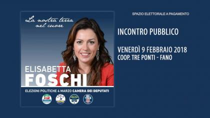 Elisabetta Foschi – Incontro Pubblico (9 febbraio 2018)