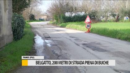 Località Belgatto, 200 metri di strada piena di buche – VIDEO