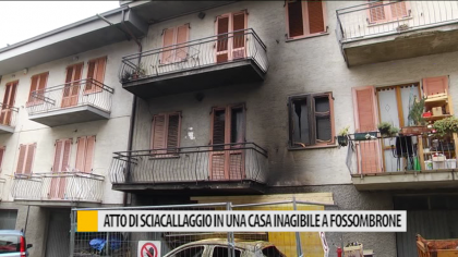 Atto di sciacallaggio in una casa inagibile a Fossombrone – VIDEO
