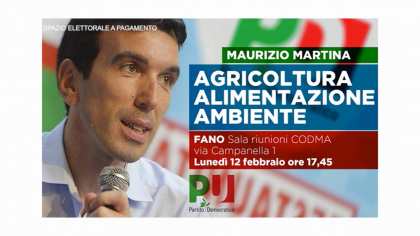 Maurizio Martina – Agricoltura alimentazione ambiente – PD Codma (12 febbraio 2018)