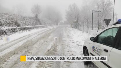 Maltempo neve, situazione sotto controllo ma comuni restano in allerta – VIDEO