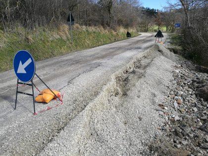 Transitabilità sulle strade provinciali, nuove frane