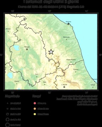 Terremoto di magnitudo 3.0 nelle Marche