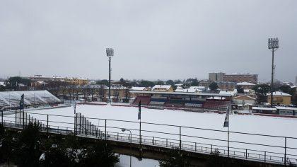 Rinviata per neve la gara Fano-Gubbio
