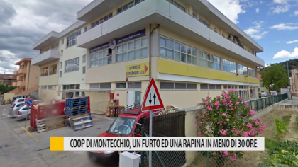 Coop di Montecchio, un furto e una rapina in meno di 30 ore – VIDEO