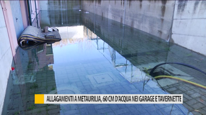 Allagamenti a Metaurilia, 60 cm d'acqua nei garage e tavernette – VIDEO