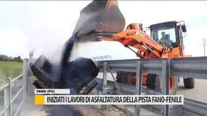 Iniziati i lavori di asfaltatura della pista ciclabile Fano-Fenile – VIDEO