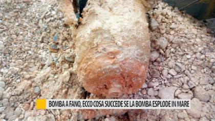 Bomba a Fano, ecco cosa succede se la bomba esplode in mare – VIDEO