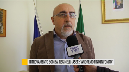 """Ritrovamento bomba, Reginelli (Aset): """"Andremo fino in fondo"""" – VIDEO"""