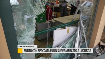 Furto con spaccata in un supermercato a Lucrezia – VIDEO