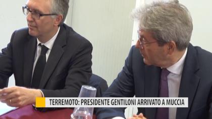 Terremoto: presidente Gentiloni arrivato a Muccia – VIDEO