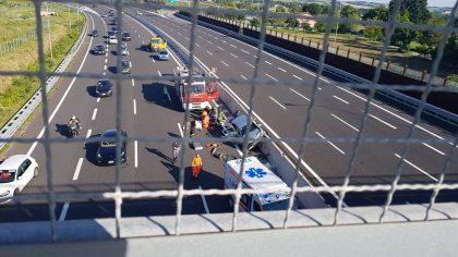 Grave incidente in autostrada all'altezza del casello di Fano