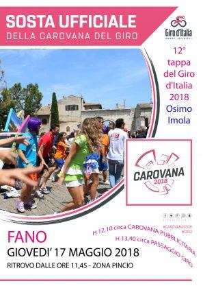 Giro d'Italia a Fano, la chiusura delle strade scatterà dalle ore 12,20
