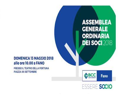 BCC Fano – Assemblea generale ordinaria dei soci 2018