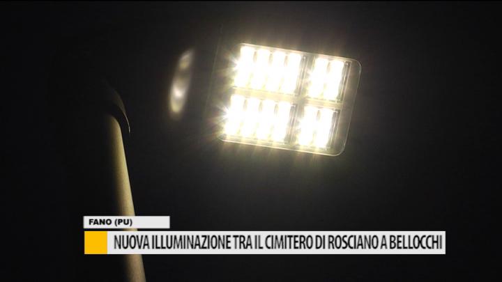 Nuova illuminazione tra il cimitero di rosciano a bellocchi u2013 video