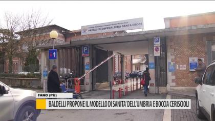 Baldelli propone il modello di sanità dell'Umbria e boccia Ceriscioli – VIDEO