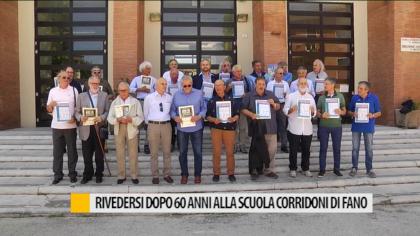 Rivedersi dopo 60 anni alla scuola Corridoni di Fano – VIDEO