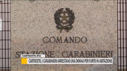 Cartoceto, i Carabinieri arrestano una donna per furto in abitazione – VIDEO